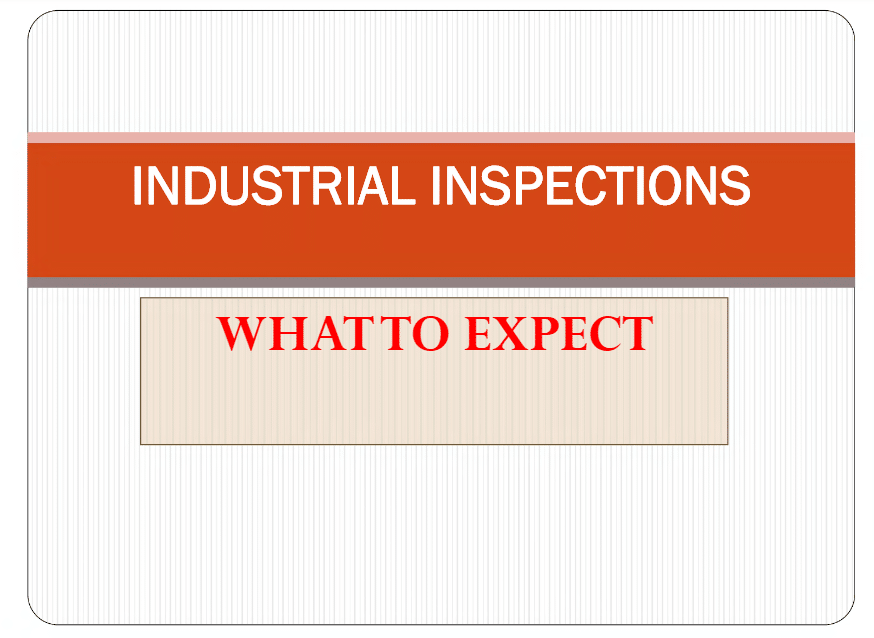Industrial Inspections: What to Expect