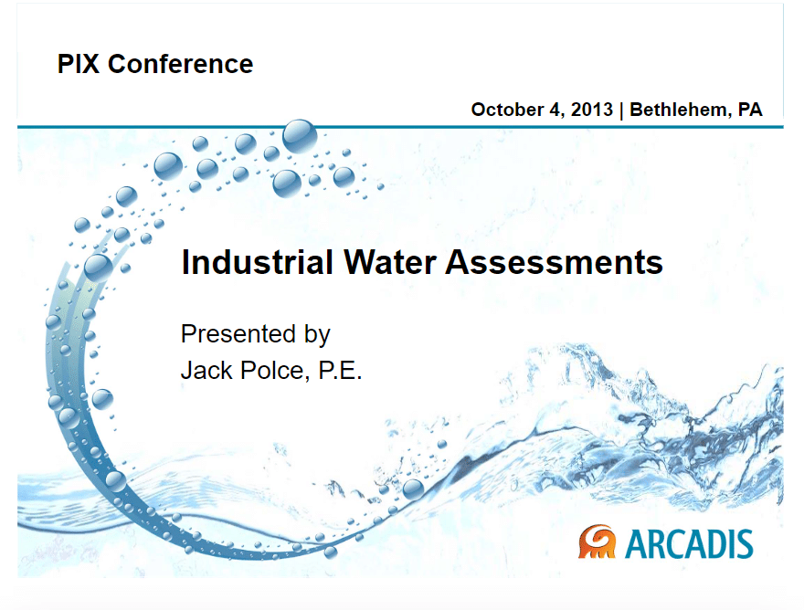 Industrial Water Assessments