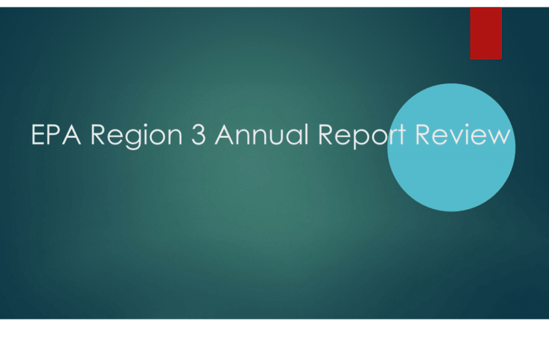 EPA Region 3 Annual Report Review