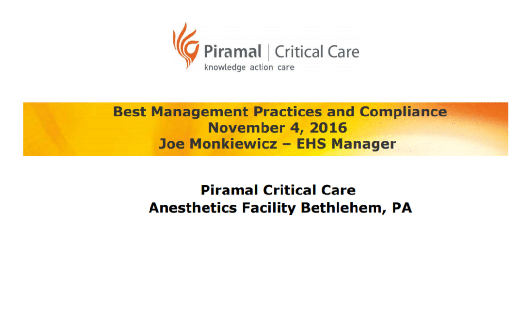 Piramal Critical Care – Best Practices & Compliance